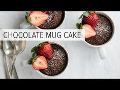 Chocolate Mug Cake (gluten-free, paleo) An easy, delicious and healthy chocolate mug cake that's also gluten-free, dairy-free and paleo. I think it's the best chocolate mug cake recipe out there. Cook Time 2 minutes Servings 1 mug cake Best Chocolate Mug Cake Recipe, Healthy Chocolate Mug Cake, Chocolate Mug Cakes, Cooking Chocolate, Chocolate Desserts, Pear And Almond Cake, Almond Cakes, Gluten Free Cakes, Gluten Free Desserts