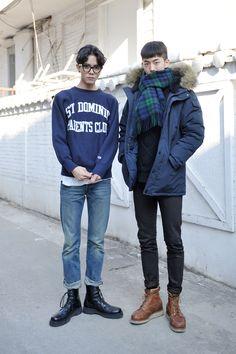 주우재 ,남주혁 Mens Street Style , korea Seoul