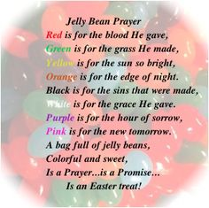 The Jelly Bean Prayer with pdf prinatable!
