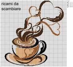 Cross stitch coffee
