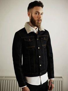 Beard and denim jacket