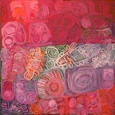 Sonia Kurarra Martuwarra 2012 acrylic on canvas 120 x 120 cm. Gallery Gabrielle Pizzi, Melbourne