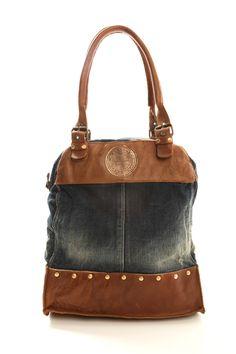 Salsa Big denim and leather handbag for woman.