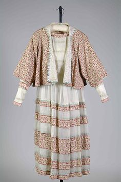 Dress (image 1) | House of Lanvin; Retailer: Thurn | French; American | 1917 | cotton | Brooklyn Museum Costume Collection at The Metropolitan Museum of Art | Accession Number: 2009.300.8110a, b