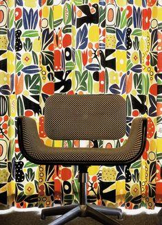Alexander Girard. Reminds me of Matisse's gouache decoupées!