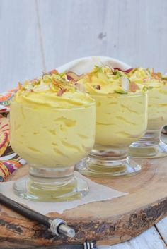 Kesar Elaichi Srikhand is perfect dessert or side dish that you could relish any day. Easy to prepare and assemble, this creamy dessert is bound to win your heart and even your taste buds. Bookmark its recipe. Indian Dessert Recipes, Indian Sweets, Indian Recipes, Easy Desserts, Delicious Desserts, Yummy Food, Tasty, Chocolates, Diwali Food