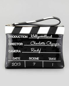 Fall 2013 Trend: Opposites Attract | Charlotte Olympia Lights! Camera! Action! Clutch Bag