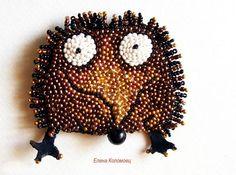 Cheerful brooches by Helen Kolomoets | Beads Magic