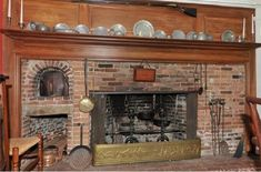 colonial period fireplaces - Google Search