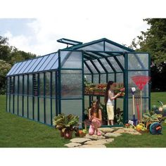 Rion Grand Gardener 2 Twin-Wall Opaque Greenhouse Model # for sale online Greenhouse Farming, Indoor Greenhouse, Small Greenhouse, Greenhouse Plans, Underground Greenhouse, Portable Greenhouse, Serre Polycarbonate, Polycarbonate Greenhouse, Garden Arbor