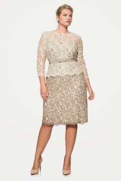 Formal plus size dress with sleeves   Follow Mode-sty for stylish modest clothing #nolayering