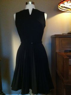 1950's style Dress with Full Pleated Twirl by therabbitsnestshop, $65.00
