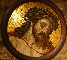 A mosaic of Christ with the Crown of Thorns in the Basilica di San Marco