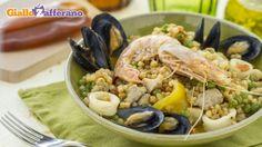 Paella algherese Fish Recipes, My Recipes, Italian Recipes, Favorite Recipes, Spanish Paella, Italian Cooking, World Recipes, Sardinia, Couscous