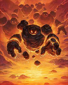 Card Name: Firesworn Artist: Blizzard Entertainment Fantasy Demon, Fantasy Monster, Fantasy World, Monster Book Of Monsters, Monster Cards, The Elder Scrolls, Creature Concept Art, Creature Design, Undead Knight