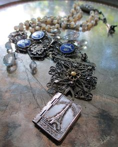the-grand-tour-vintage-assemblage necklace by the French Circus