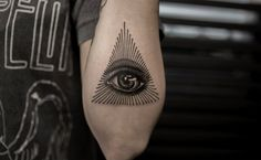 """Tattoos of the Mighty """"Eye of Providence."""" http://illusion.scene360.com/art/86383/eye-of-providence-tattoos/ #allseeingeye #god"""