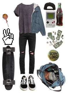 """Bored"" by nevermind90 ❤ liked on Polyvore featuring April 77, ATG, Vans, GoldCoast, Roark, Retrò, men's fashion, menswear, outfit and teen"