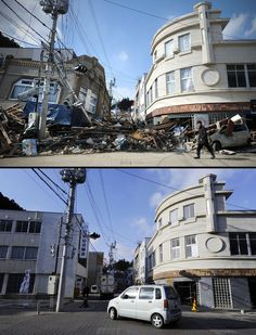 Before/after catastrophe Japan.