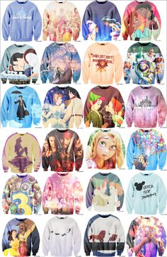 - Disney - Peter Pan - Beauty and the Beast - UP - tangled - snow white - toy story - princesses - mary poppins - lion king - Cinderella - The Little Mermaid Disney Sweatshirts, Disney Sweaters, Disney Shirts, Disney Outfits, Disney Fashion, Disney Clothes, Hoodies, Disney Style, Disney Love