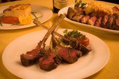 Rack Of Lamb served at destination bucket list restaurant Nebraska Steakhouse in Nebraska. #summerlambventures