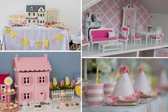 aniversário menina casa de bonecas