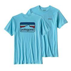 Patagonia Mens Line Logo Badge Short Sleeve T-Shirt in Cuban Blue 39045-CUBB