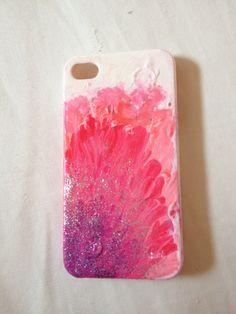 Diy nail polish phone case.