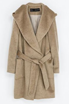 tan coat | Zara