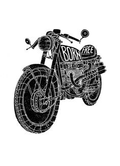 Black'n'White by Ooli Mos, via Behance | caferacerpasion.com