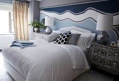 One Kings Lane stylist Andrew Stewart works his decorating magic on a one-bedroom apartment makeover in Manhattan—with lots of space and style to spare. 4 Bedroom Apartments, One Bedroom Apartment, Home Bedroom, Bedroom Decor, Glam Bedroom, Bedroom Stuff, Kids Bedroom, Bedroom Ideas, Apartment Makeover