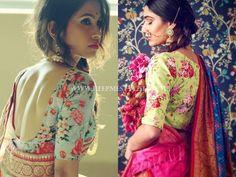 Floral Blouse Designs For Sarees