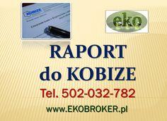 Kobize, wytyczne na 2015, kobize dla firm, tel 502-035-782, złożenie wniosku w  bazie, wykonanie raportu, obsługa firmy,  obowiązek sprawozdania z kobize, http://ekobroker.pl/