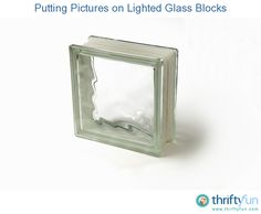 The addition of pictures and photos to a lighted glass block makes for great home decor projects. This is a guide about putting pictures on lighted glass blocks.