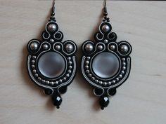 Banquet soutache earrings for sale at Etsy EmilySoutache shop for €24