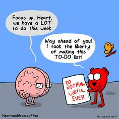 The Awkward Yeti [official] Funny Cartoons, Funny Comics, Funny Jokes, Hilarious, Akward Yeti, The Awkward Yeti, Heart And Brain Comic, Passion Work, Life Comics