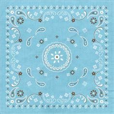 Blue bandana