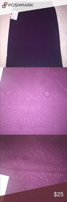Lularoe L NWT Cassie Beautiful dark purple pencil skirt LuLaRoe Skirts Pencil