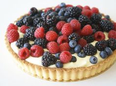 Fruit tarts are great, berry tarts are better. Especially when you make the filling from sweet mascarpone cheese.