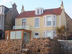 Beach house in Lower Largo which can accomodate 10 Scotland Vacation, Fife Scotland, Price Book, Girls Weekend, Trip Advisor, Catering, Beach House, Cottage, Mansions