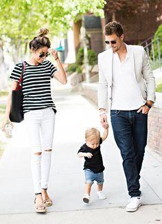 Spring family fashion.