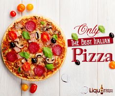 Taste the feel of goodness, with yummy-tummy #Pizzas, available on order @ 403-968-9696.