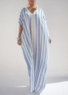 STRIPES MOROCCAN LINEN CAFTAN | Moroccan caftan | Pinterest | Caftans and Linens