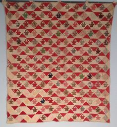 Fantastic Antique Red Basket Quilt - Great Graphics | Antiques, Linens & Textiles (Pre-1930), Quilts | eBay!