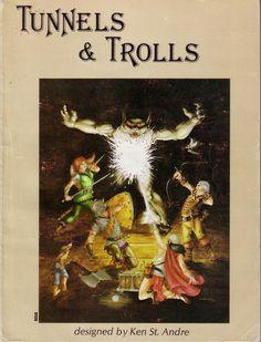 Tunnels & Trolls (5th Edition), 1979. Cover by Liz Danforth.