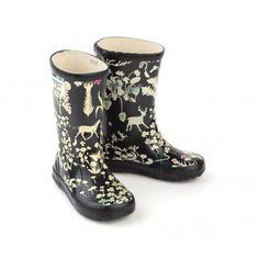 Girls' Liberty-print rain boots by Aigle