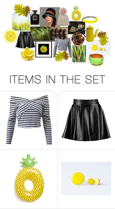 """""""Collection with Yellow Tulips"""" by crystalglowdesign ❤ liked on Polyvore featuring art"""