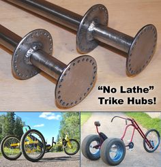 Tutorial – No Lathe Trike Hubs Tricycle Bike, Trike Bicycle, Recumbent Bicycle, Drift Trike Motorized, Soap Box Cars, Eletric Bike, Bike Cargo Trailer, Homemade Go Kart, Bicycle Engine