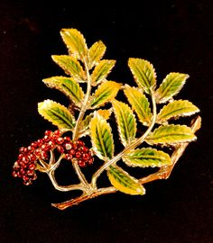 Ancient brooch 1950 EXQUISITE Signature  by RAKcreations on Etsy