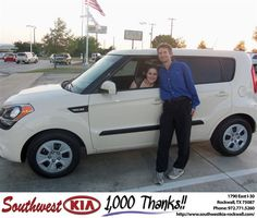 #HappyAnniversary to Mark Russo on your 2013 #Kia #Soul from Samuel Griffith at Southwest KIA Rockwall!